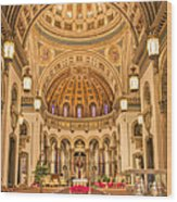 Cathedral Of The Sacred Heart 2 Wood Print