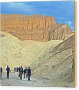 Cathedral Peaks From Golden Canyon In Death Valley National Park-california Wood Print