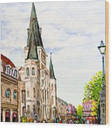 Cathedral Plaza - Jackson Square, French Quarter Wood Print