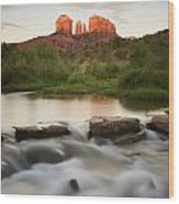 Cathedral Rock At Red Rock Wood Print
