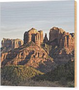 Cathedral Rock At Sunset Wood Print