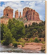 Cathedral Rock Wood Print by Fred Larson