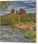 Cathedral Rock Sedona Az Dsc09018 Wood Print