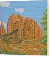 Cathedral Rock Sedona Az Right Wood Print