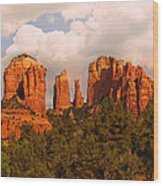 Cathedral Rock Sunset Wood Print