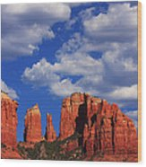 Cathedral Rock Wood Print by Tom Kelly