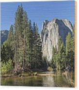 Cathedral Rocks In Yosemite Wood Print