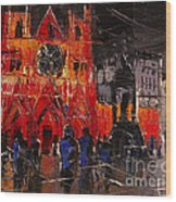 Cathedral Saint Jean-baptiste In Lyon Wood Print
