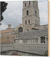 Cathedral Saint Trophime - Arles Wood Print