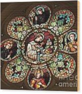 Cathedral Stained Glass Wood Print