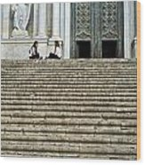 Cathedral Steps Girona Spain Wood Print