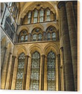 Cathedral Walls And Windows Wood Print