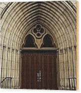 Catherdral Door's Wood Print