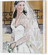 Catherine Duchess Of Cambridge Print  Wood Print by Eric  Schiabor