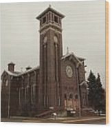 Catholic Church In Lewesiton  Wood Print