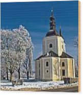 Catholic Church In Town Of Krizevci Wood Print