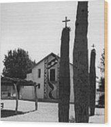 Catholic Church Pisinemo Arizona Tohono O'odham Indian Reservation 1973 Wood Print