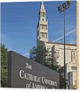 Catholic University Of America Wood Print