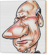 Catian Jean Luc Picard Wood Print by Big Mike Roate
