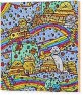 Catnip Dreamzzzs Wood Print