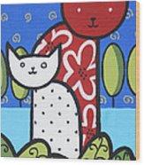 Cats 1 Wood Print