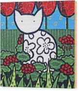 Cats 4 Wood Print
