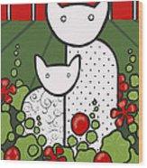 Cats 5 Wood Print