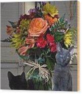 Cats 67 Wood Print by Joyce StJames