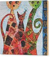 Cats 737 - Marucii Wood Print