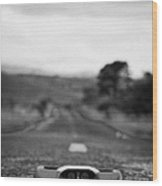 Cats Eye In The Middle Of A Mountain Road In The Mourne Mountains County Down Northern Ireland Wood Print