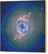 Cat's Eye Nebula Wood Print