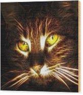 Cat's Eyes - Fractal Wood Print