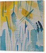 Cattail Sun Wood Print