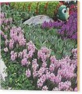 Catterpillar Large Flower Garden Vegas Wood Print