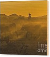 Cattle Drive 8 Wood Print