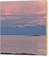 Cattle Point At Sunset On Vancouver Island British Columbia Wood Print