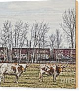 Cattle Train Wood Print