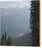 Caucasus Mountains - Krasnaya - Sochi Russia Wood Print