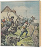 Caucasus Rebels Fight  Government Troops Wood Print