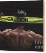 Caution Wood Print