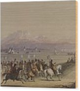 Cavalcade By The Snake Indians Wood Print
