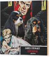 Cavalier King Charles Spaniel Art - Vertigo Movie Poster Wood Print