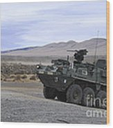 Cavalry Troopers Fire Wood Print