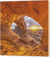 Cave Arch Wood Print by Dustin  LeFevre