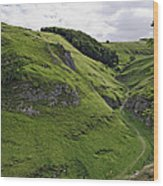 Cave Dale From Peveril Castle Wood Print