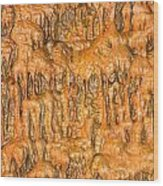 Cave Formation 5 Wood Print