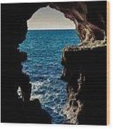 Cave Hole Wood Print