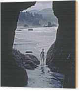 Mp-335-cave In Battle Rock Port Orford Wood Print