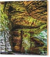 Cave Land Wood Print