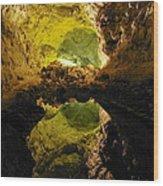 Cave On Lanzarote Wood Print